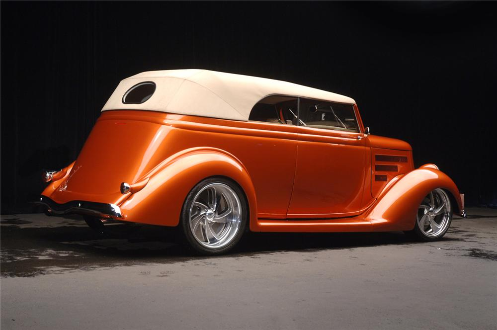 1936 FORD CUSTOM CABRIOLET - Rear 3/4 - 70681