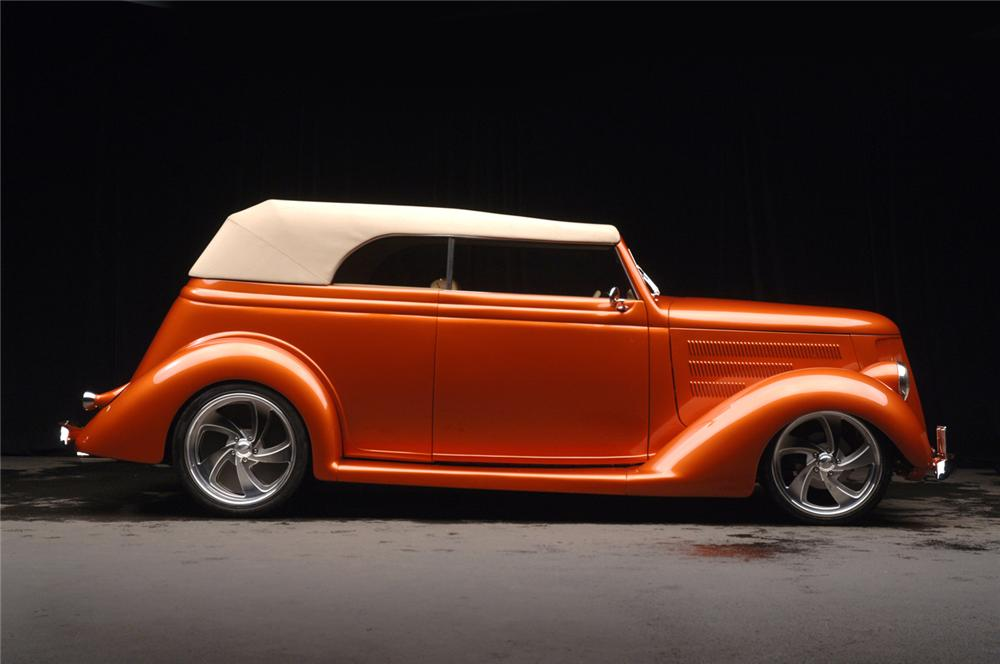 1936 FORD CUSTOM CABRIOLET - Side Profile - 70681
