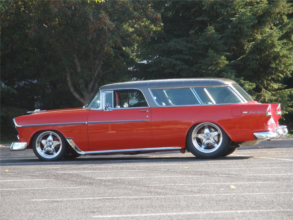 1955 CHEVROLET NOMAD WAGON RESTO-MOD - Side Profile - 70685