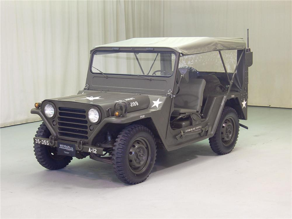 1966 FORD M151 MILITARY JEEP - Front 3/4 - 70701