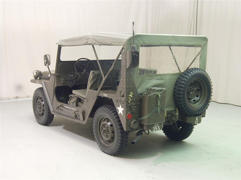 1966 FORD M151 MILITARY JEEP - Rear 3/4 - 70701