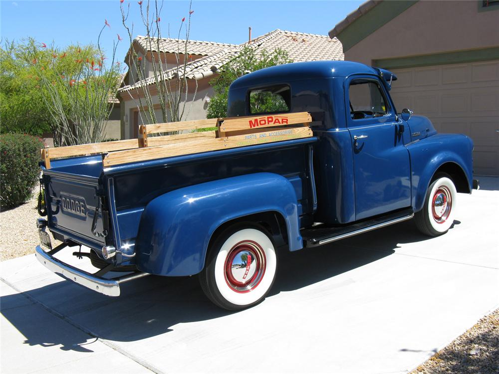 1953 DODGE JOB RATED MODEL B 1/2 TON PICKUP - Rear 3/4 - 70713