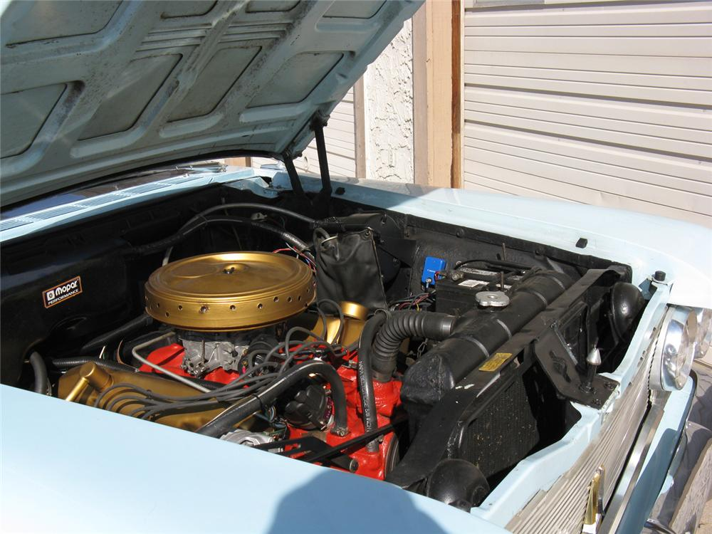 1960 PLYMOUTH FURY 2 DOOR CONVERTIBLE - Engine - 70724