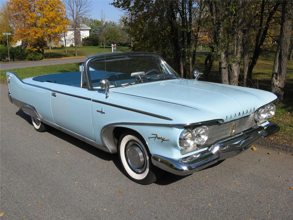 1960 PLYMOUTH FURY 2 DOOR CONVERTIBLE - Front 3/4 - 70724