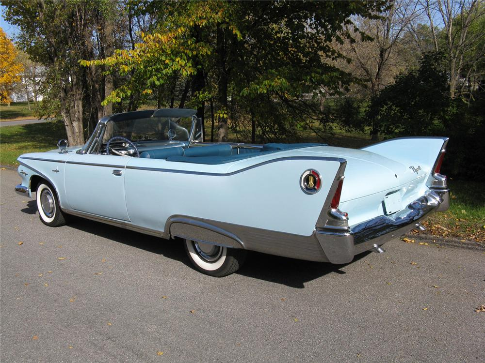 1960 PLYMOUTH FURY 2 DOOR CONVERTIBLE - Rear 3/4 - 70724