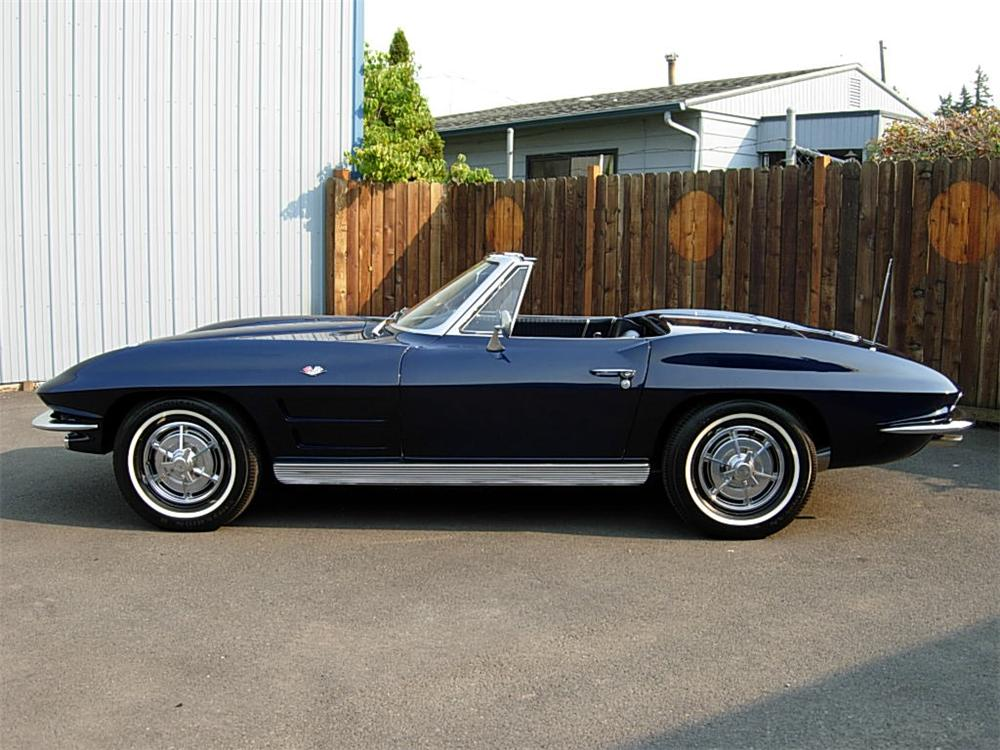 1963 CHEVROLET CORVETTE CONVERTIBLE - Side Profile - 70725