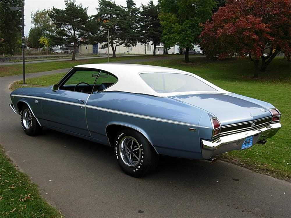 1969 CHEVROLET CHEVELLE SS 2 DOOR COUPE - Rear 3/4 - 70726