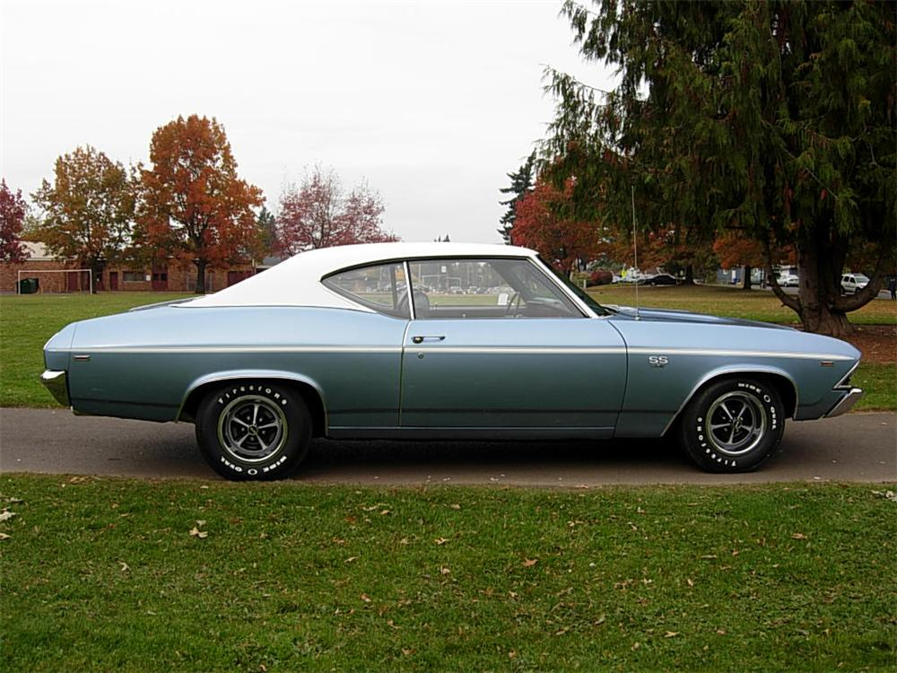 1969 CHEVROLET CHEVELLE SS 2 DOOR COUPE - Side Profile - 70726