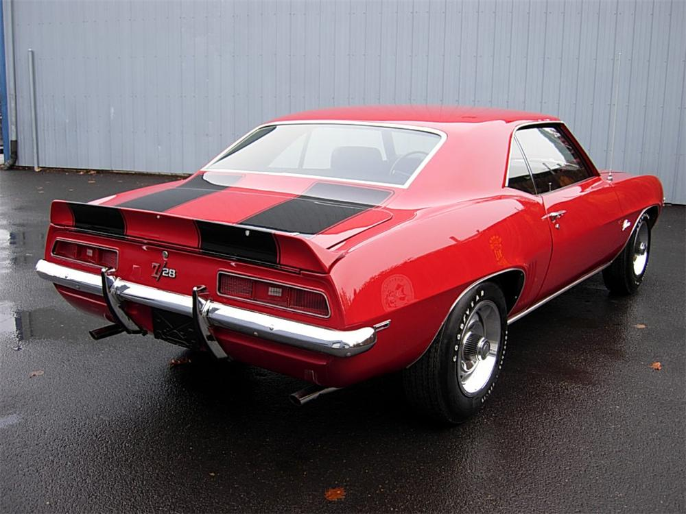 1969 CHEVROLET CAMARO Z/28 2 DOOR COUPE - Rear 3/4 - 70729