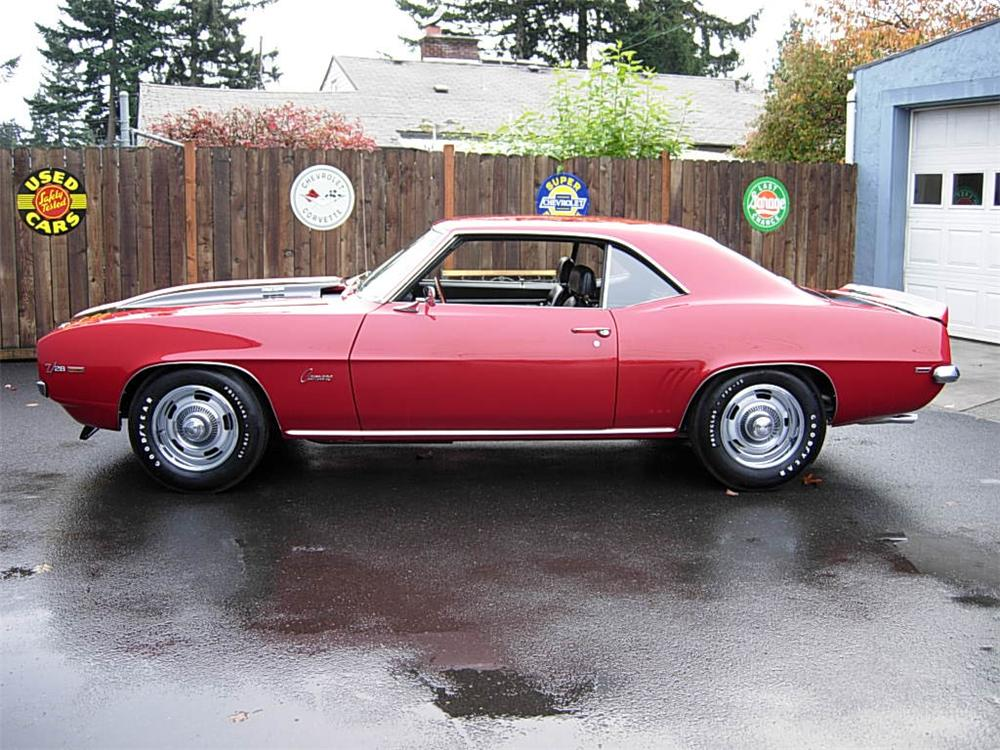 1969 CHEVROLET CAMARO Z/28 2 DOOR COUPE - Side Profile - 70729