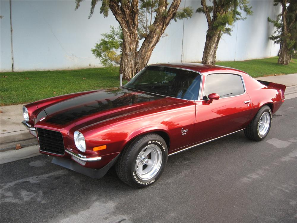 1972 CHEVROLET CAMARO CUSTOM COUPE - Front 3/4 - 70737