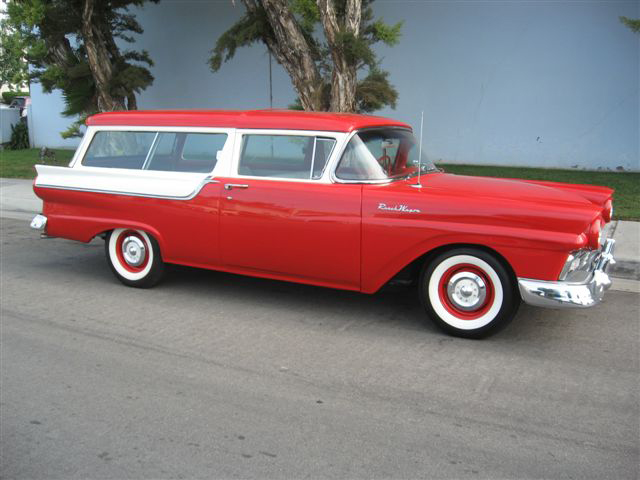 1957 FORD RANCH WAGON 2 DOOR STATION WAGON - Side Profile - 70744