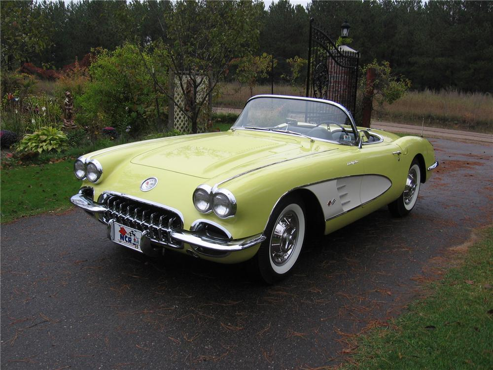 1958 CHEVROLET CORVETTE CONVERTIBLE - Front 3/4 - 70754
