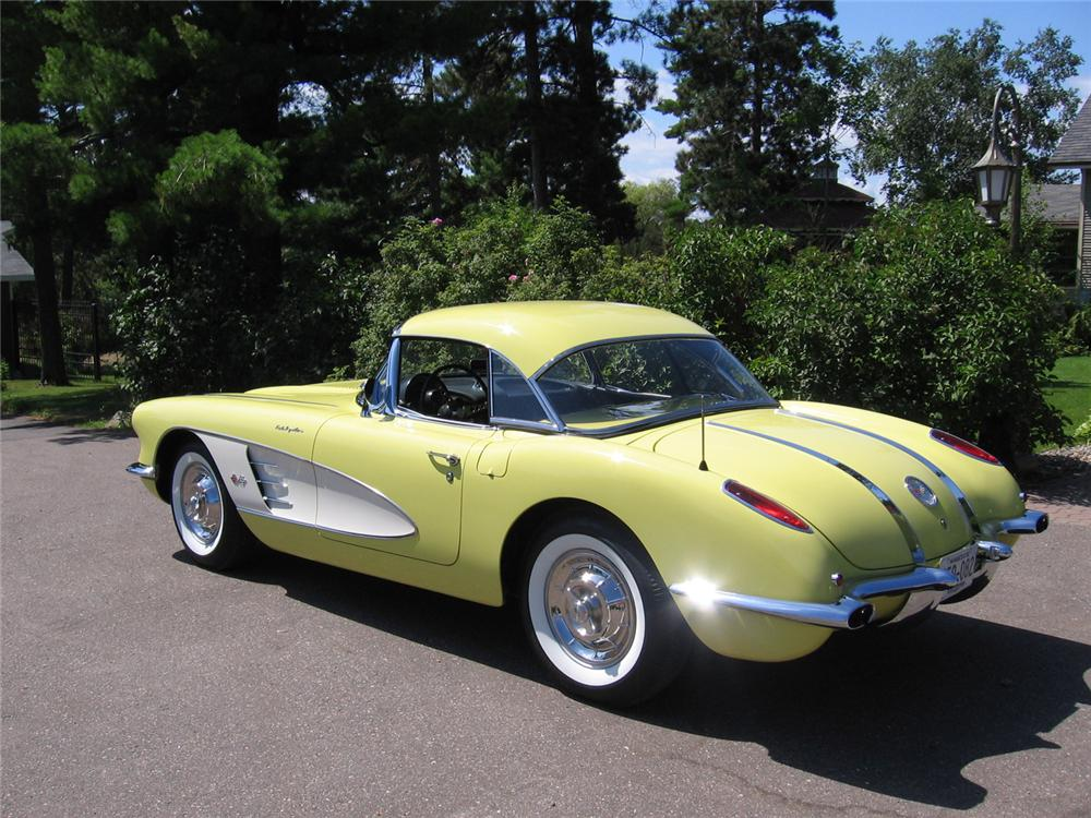 1958 CHEVROLET CORVETTE CONVERTIBLE - Side Profile - 70754