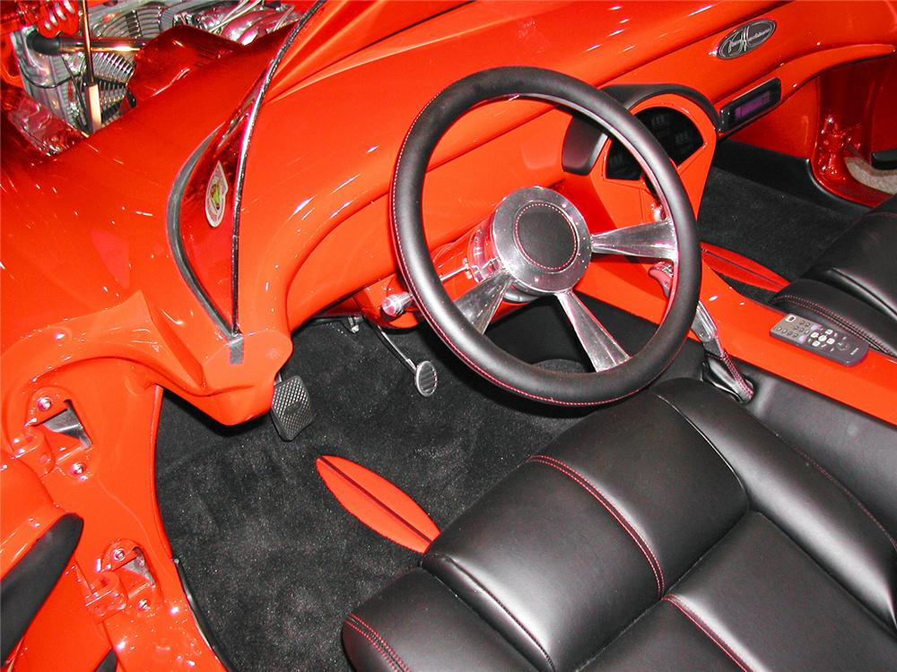 1956 CHEVROLET CORVETTE CUSTOM ROADSTER - Interior - 70756