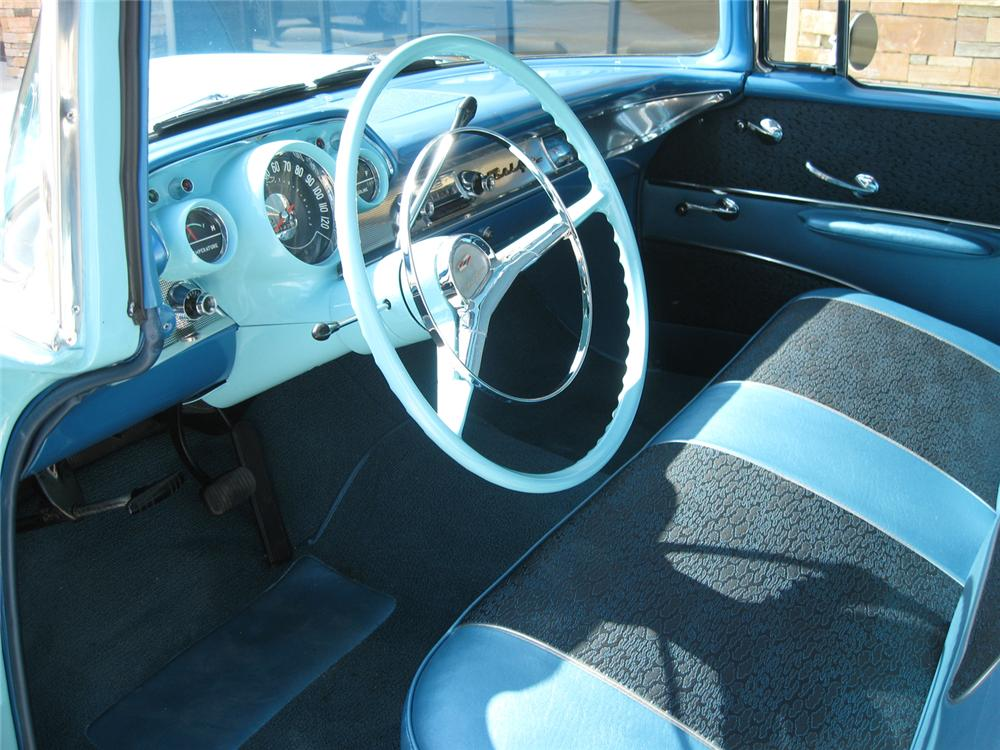 1957 CHEVROLET BEL AIR 2 DOOR HARDTOP - Interior - 70767