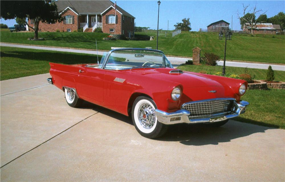 1957 FORD THUNDERBIRD CONVERTIBLE - Front 3/4 - 70781