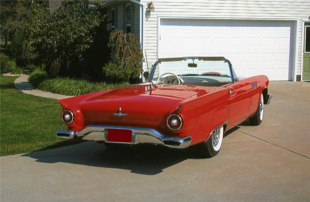 1957 FORD THUNDERBIRD CONVERTIBLE - Rear 3/4 - 70781