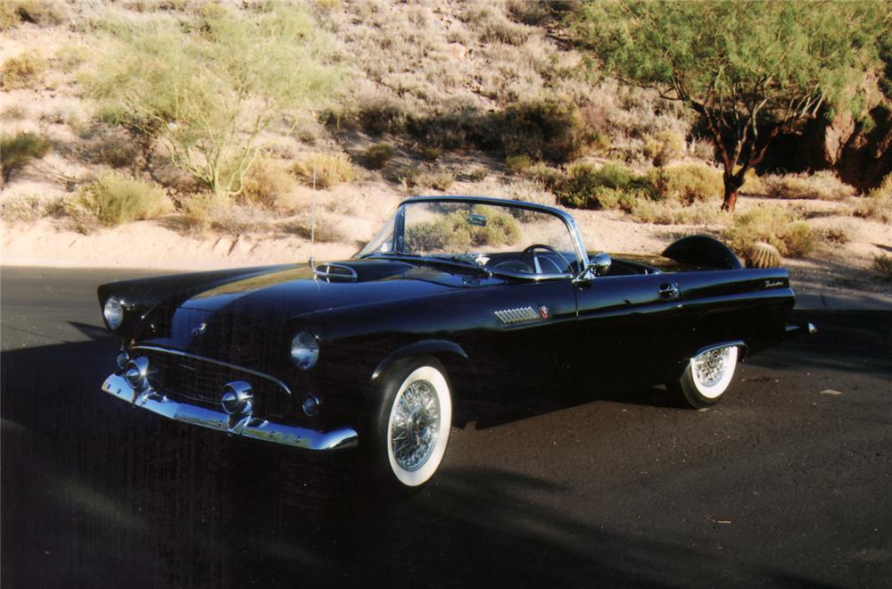 1955 FORD THUNDERBIRD CONVERTIBLE - Front 3/4 - 70788