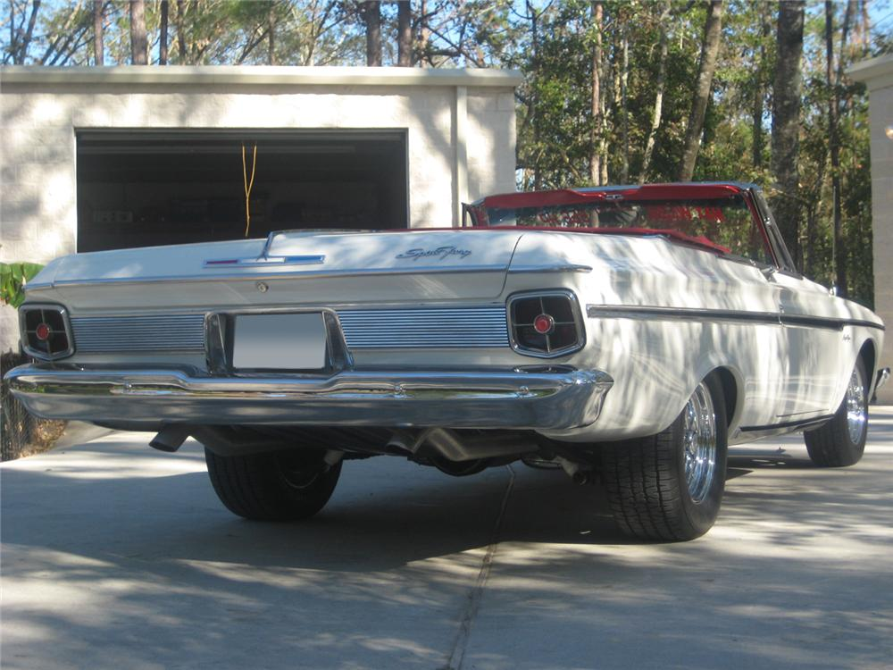 1963 PLYMOUTH SPORT FURY MAX WEDGE RE-CREATION - Rear 3/4 - 70790