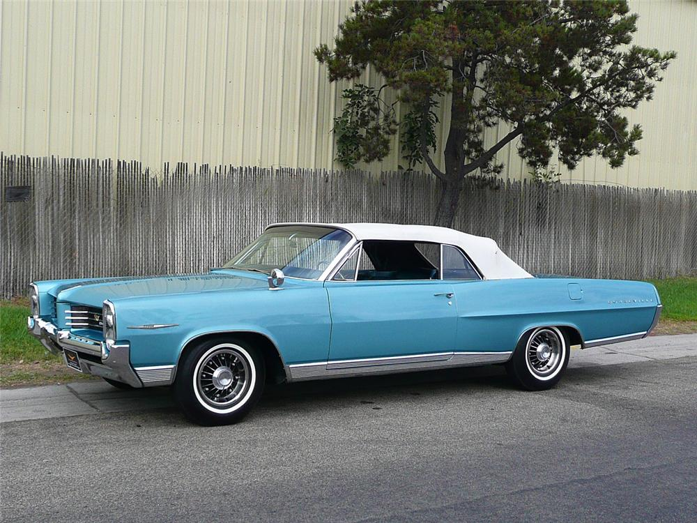 1964 PONTIAC BONNEVILLE CONVERTIBLE - Side Profile - 70797
