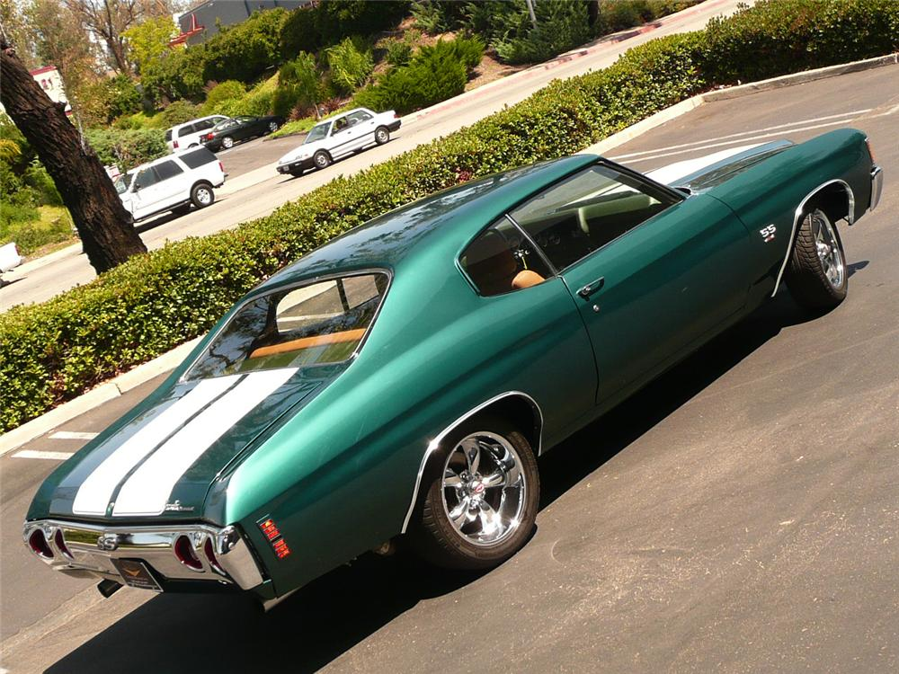 1972 CHEVROLET CHEVELLE PRO-TOURING COUPE - Rear 3/4 - 70804