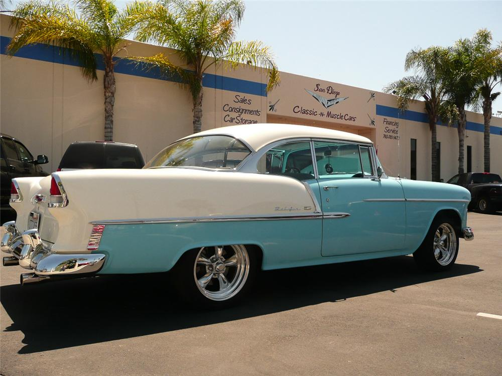 1955 chevrolet bel air 2 door hardtop resto rod 70809 for 1955 chevy bel air 4 door