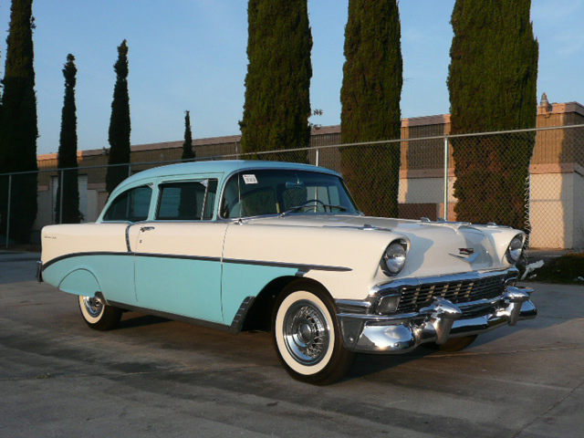 1956 CHEVROLET 210 DEL RAY 2 DOOR HARDTOP - Front 3/4 - 70810