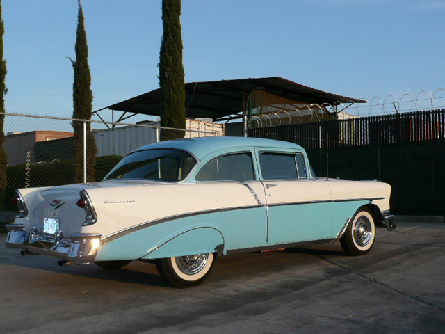 1956 CHEVROLET 210 DEL RAY 2 DOOR HARDTOP - Rear 3/4 - 70810