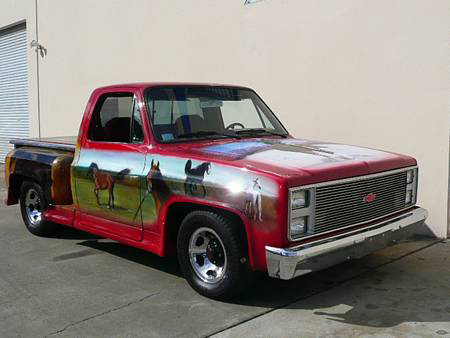 1986 CHEVROLET C-10 CUSTOM PICKUP - Front 3/4 - 70814