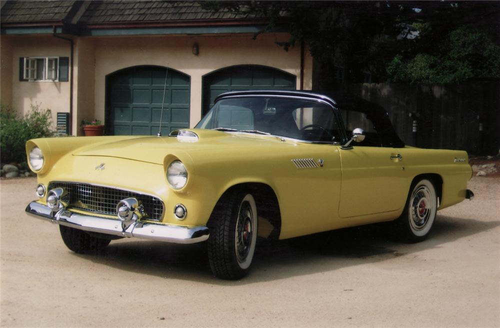 1955 FORD THUNDERBIRD CONVERTIBLE - Front 3/4 - 70828