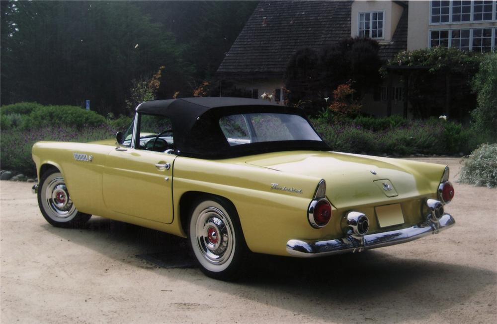 1955 FORD THUNDERBIRD CONVERTIBLE - Rear 3/4 - 70828