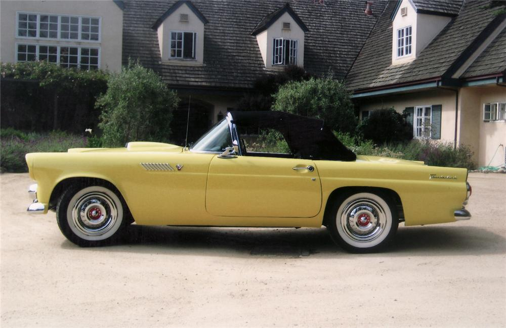 1955 FORD THUNDERBIRD CONVERTIBLE - Side Profile - 70828