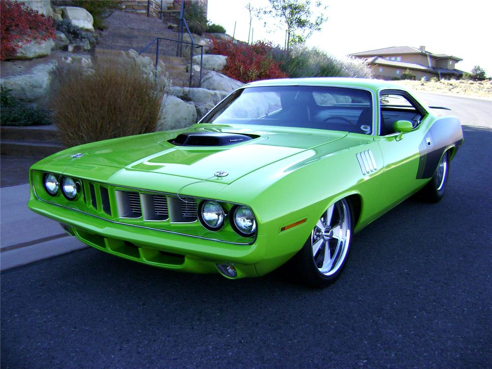 1971 PLYMOUTH CUDA CUSTOM 2 DOOR HARDTOP - Front 3/4 - 70830
