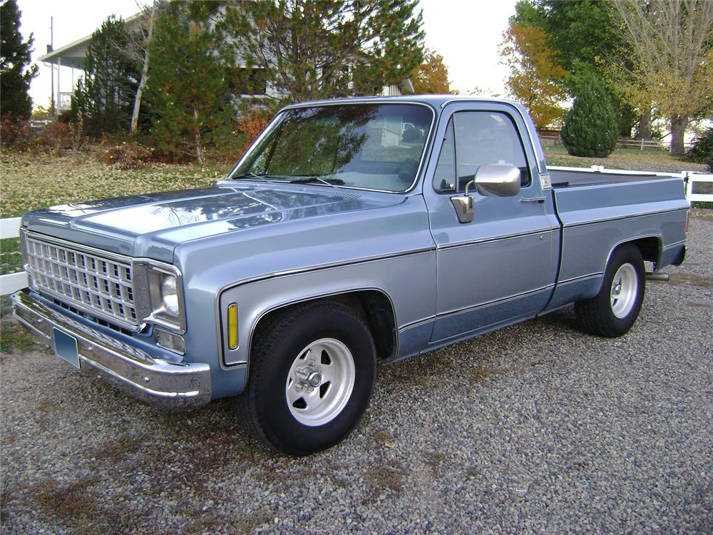 1980 CHEVROLET SHORT BED PICKUP - Front 3/4 - 70831