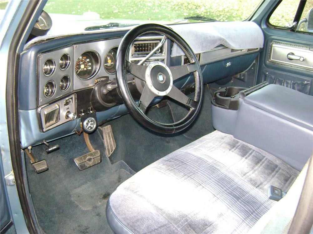 1980 CHEVROLET SHORT BED PICKUP - Interior - 70831