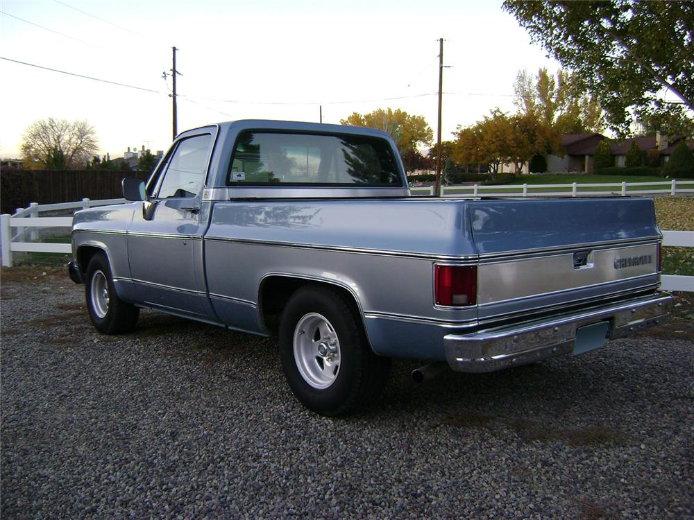 1980 CHEVROLET SHORT BED PICKUP - Rear 3/4 - 70831