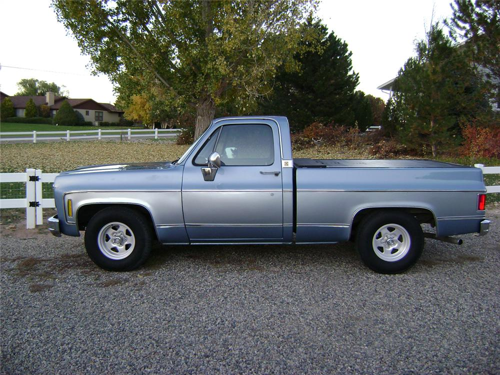 1980 CHEVROLET SHORT BED PICKUP - Side Profile - 70831