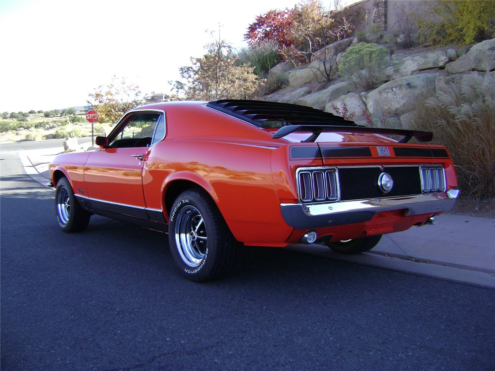 1970 FORD MUSTANG MACH 1 FASTBACK - Rear 3/4 - 70833