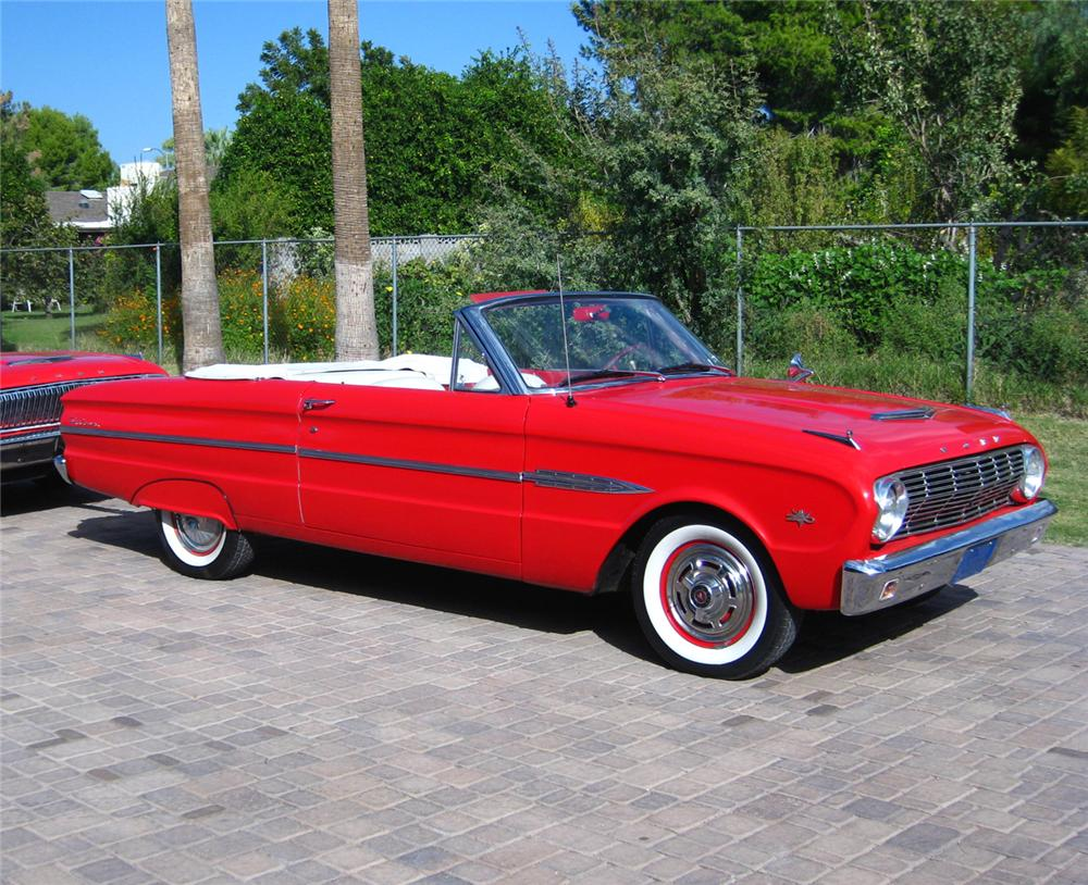 1963 FORD FALCON CONVERTIBLE - Front 3/4 - 70837