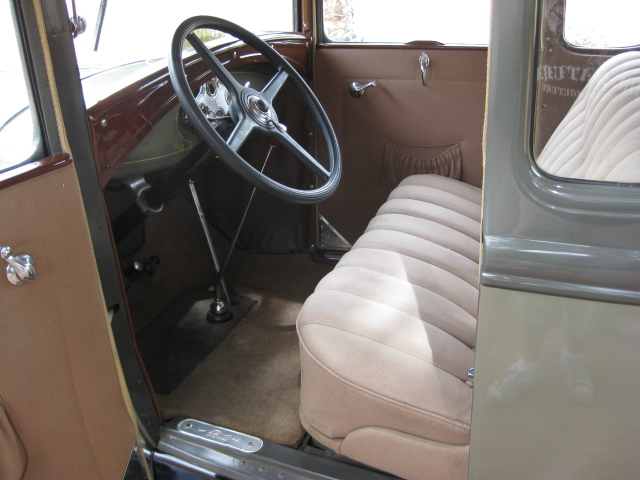 1930 FORD MODEL A 5 WINDOW COUPE - Interior - 70840
