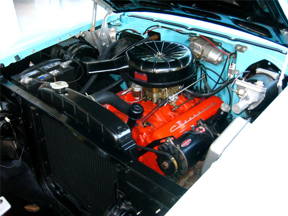 1957 CHEVROLET BEL AIR CONVERTIBLE - Engine - 70843