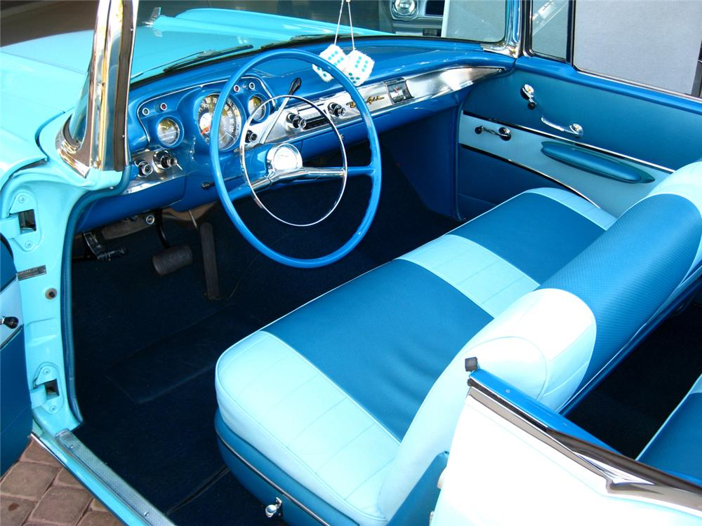 1957 CHEVROLET BEL AIR CONVERTIBLE - Interior - 70843