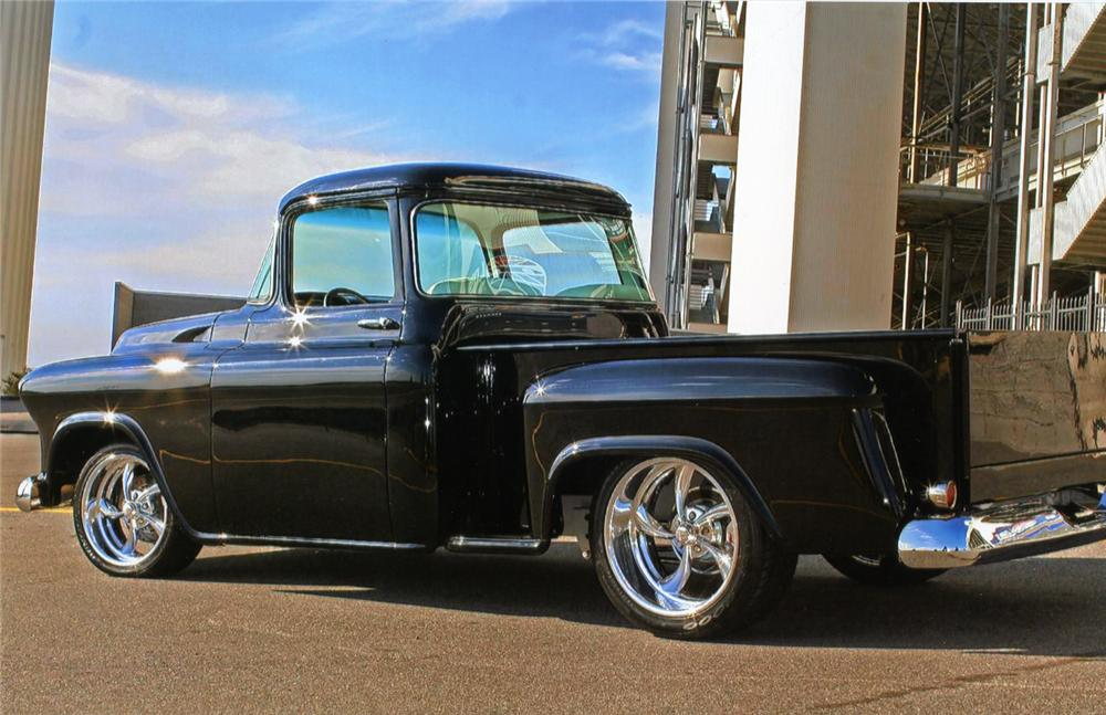 1959 CHEVROLET 3100 CUSTOM PICKUP - Rear 3/4 - 70851