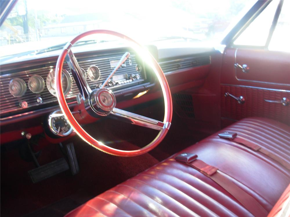 1966 MERCURY MONTEREY CUSTOM 2 DOOR HARDTOP - Interior - 70865