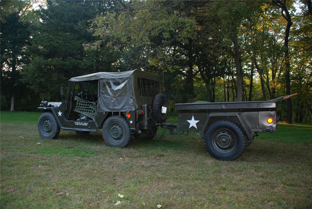 1965 JEEP M151 MILITARY 4X4 UTILITY VEHICLE - Rear 3/4 - 70867