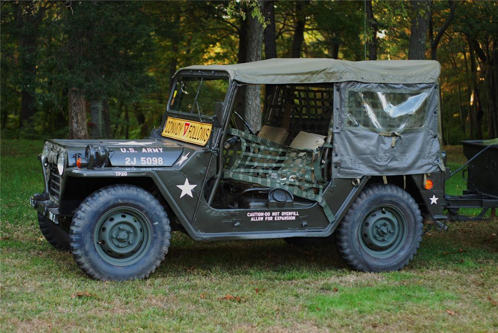 1965 JEEP M151 MILITARY 4X4 UTILITY VEHICLE - Side Profile - 70867