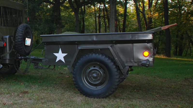 1964 ANTHONY 416 MILITARY UTILITY TRAILER - Front 3/4 - 70868