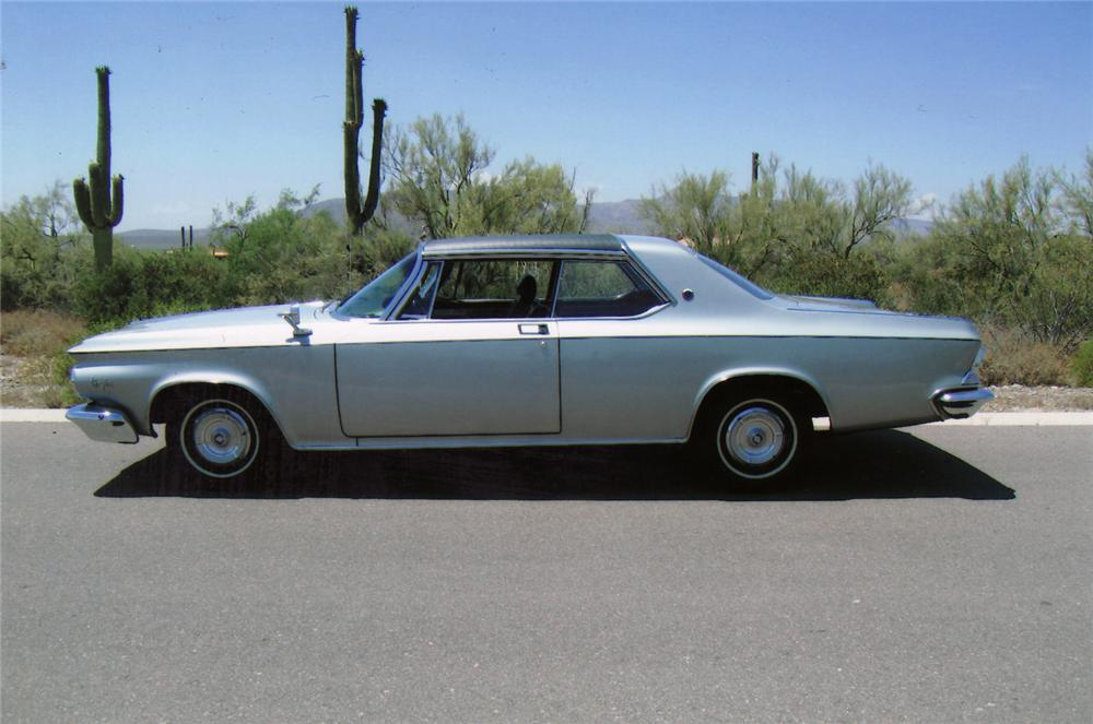 1964 CHRYSLER 300K SILVER SERIES 2 DOOR HARDTOP - Side Profile - 70879