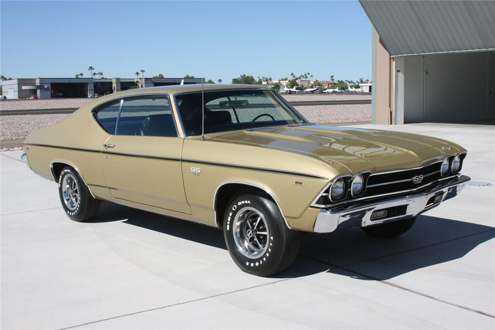 1969 CHEVROLET CHEVELLE SS 396 COUPE - Front 3/4 - 70890